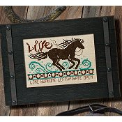 "The Cooper Frame - 5"" x 7"" Distressed Black"