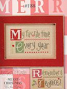 Lizzie Kate - Merry Christmas By The Letter Double Flip Series - M E R  R