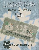 picture of Lizzie Kate Flip-It Series - Snow Story - Cold Hands cross stitch pattern THUMBNAIL