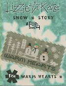 picture of Lizzie Kate Flip-It Series - Snow Story - Warm Hearts cross stitch pattern THUMBNAIL