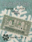 picture of Lizzie Kate Flip-It Series - Snow Story - Snow Love cross stitch pattern THUMBNAIL