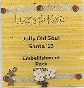 Lizzie Kate Snippet - Jolly Old Soul Santa '13 Embellishment Pack
