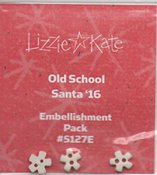Lizzie Kate Snippet - Old School Santa 2016 Embellishment Pack