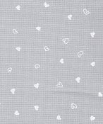 "Lugana 32ct Grey w/White Hearts Petit Coeur - 18"" x 27"" Cut_THUMBNAIL"