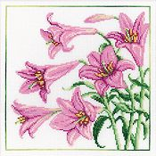 RTO Cross Stitch Kit - Lilies