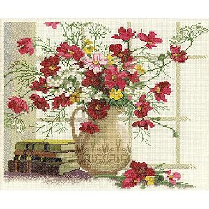 RTO Cross Stitch Kit - Blooming Cosmos MAIN