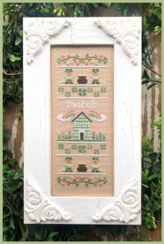 Country Cottage Needleworks - Sampler of the Month - March MAIN