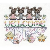 MarNic Designs - Easter Welcome Funny Bunnies