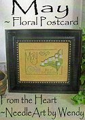 From The Heart - Floral Postcard - May