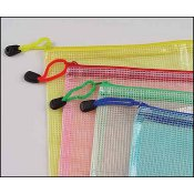 "Mesh Project Bags in Assorted Colors 9"" x 13"" THUMBNAIL"