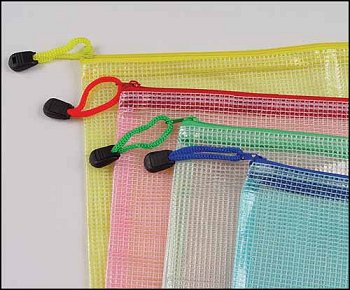 "Mesh Project Bags in Assorted Colors 12"" x 17"" MAIN"