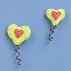 Magnets - Snowmen of the Month - June Heart Balloons, Set of 2 MAIN