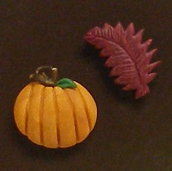 Magnets - Snowmen of the Month - October Pumpkin & Leaf MAIN