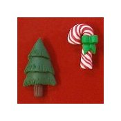 Magnets - December Candy Cane & Christmas Tree
