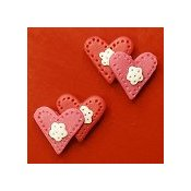 Magnets - February Hearts, Set of 2