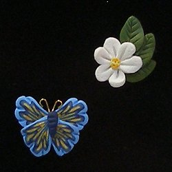 Magnets - May Apple Blossom & Butterfly MAIN