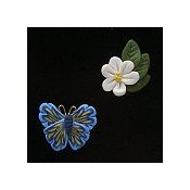 Magnets - May Apple Blossom & Butterfly