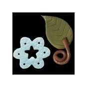 Magnets - January Star Snowflake & Curly Stem Leaf