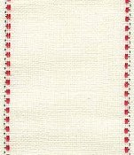 "Mill Hill Stitch Band - Kristin 30ct Ivory, Red & Green 2.7"" width - 18"" Cut"