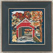 Buttons & Beads 2012 Autumn Series - Covered Bridge THUMBNAIL