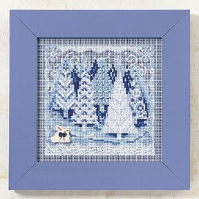 Snow Day Cross Stitch Kit Mill Hill 2009 Buttons /& Beads Winter