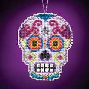 Mill Hill Calavera Charmed Ornaments - Morado