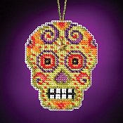 Mill Hill Calavera Charmed Ornaments - Verde THUMBNAIL