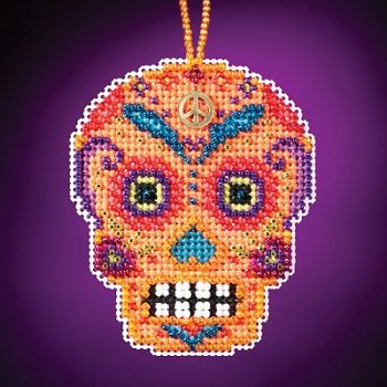 Mill Hill Calavera Charmed Ornaments - Naranja MAIN