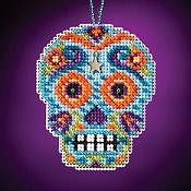Mill Hill Calavera Charmed Ornaments - Azul
