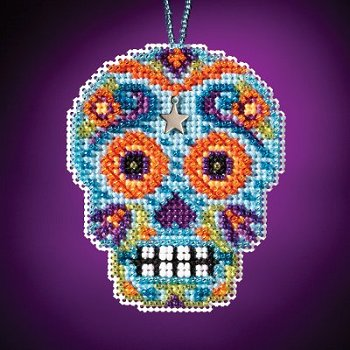 Mill Hill Calavera Charmed Ornaments - Azul MAIN