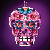 Mill Hill Calavera Charmed Ornaments - Rosa
