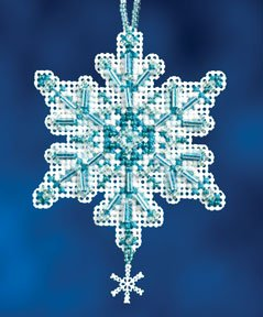 Mill Hill Snow Crystals Charmed Ornaments - Aqua Crystal MAIN