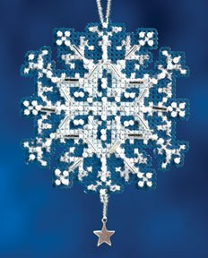 Mill Hill Snow Crystals Charmed Ornaments - Star Crytal