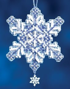 Mill Hill Snow Crystals Charmed Ornaments - Sapphire Crystal