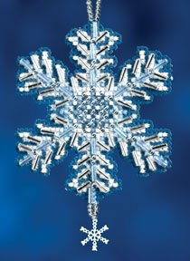 Mill Hill Snow Crystals Charmed Ornaments - Ice Crystal THUMBNAIL