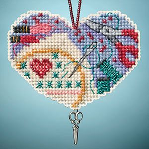 Ornament Series 2013 I Love Charmed Ornaments - Love Stitching MAIN