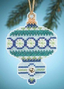 Mill Hill Christmas Jewels Charmed Ornaments - Blue Topaz MAIN