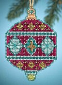 Mill Hill Christmas Jewels Charmed Ornaments - Berry THUMBNAIL