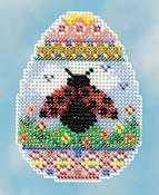 Ornament Series 2016 Spring Bouquet - Ladybug Egg