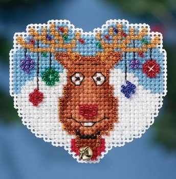 Mill Hill 2016 Winter Holiday Ornament - Reindeer Games MAIN