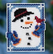 Mill Hill 2016 Winter Holiday Ornament - Invisible Snowman THUMBNAIL