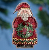 Mill Hill 2016 Winter Holiday Ornament - Ye Old Santa