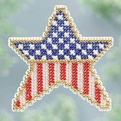 Ornament Series 2013 Spring Series - Patriotic Star THUMBNAIL