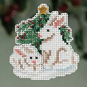 Ornament Series 2013 Winter Holiday - Winter Bunnies THUMBNAIL