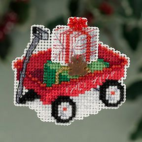 Ornament Series 2013 Winter Holiday - Red Wagon MAIN