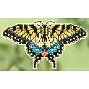Ornament Series 2015 Spring Bouquet - Yellow Swallowtail THUMBNAIL