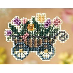 Ornament Series 2008 Spring Bouquet - Garden Cart MAIN