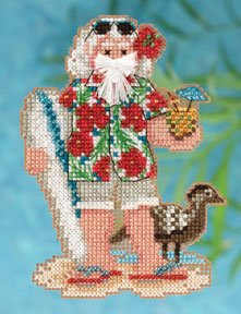 Mill Hill Bead Kit Tropical Santas - Hawaii Santa