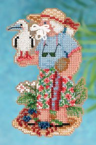 Mill Hill Bead Kit Tropical Santas - Christmas Island Santa MAIN