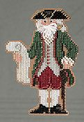 Mill Hill Bead Kit Colonial Santas - Williamsburg Santa THUMBNAIL
